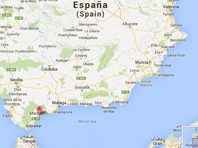 solkysten kart Villa Estepona solkysten kart